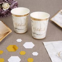 Scripted Marble Paper Cups (8)